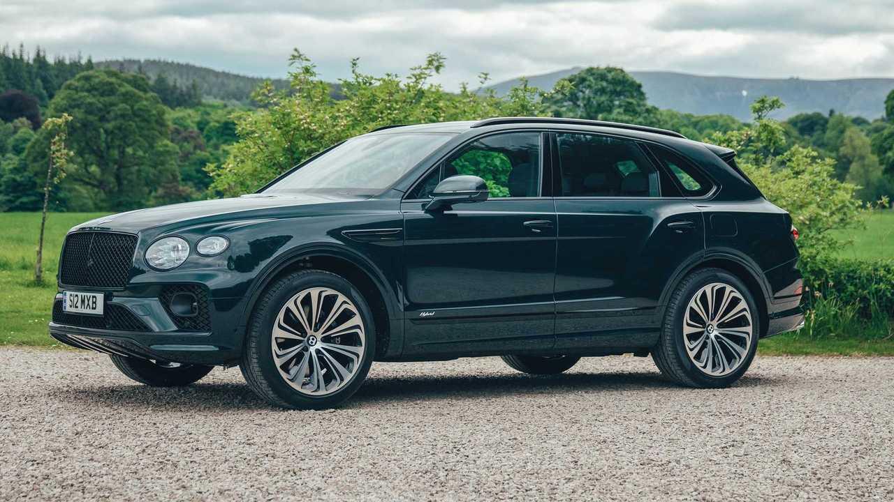 Bentley Bentayga Hybrid For Macallan Distillery Outside