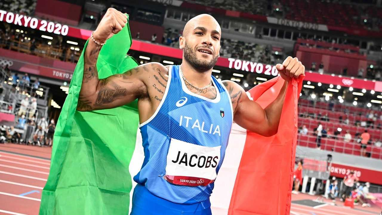 Marcell Jacobs, medaglia d'oro nei 100 metri alle Olimpiadi di Tokyo 2020