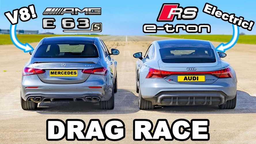 Audi RS E-Tron GT Drag Races AMG E63S, Speeds Ahead