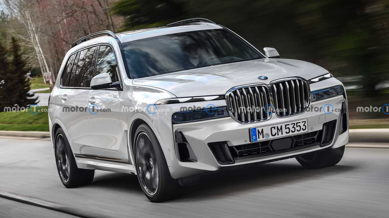 2023 BMW X7 facelift rendering