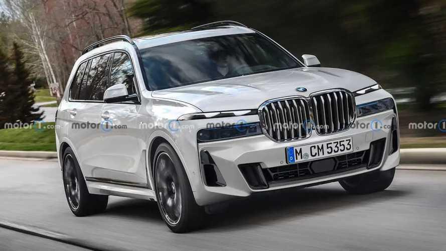 BMW X7 Facelift nach neuesten Erlkönigbildern gerendert