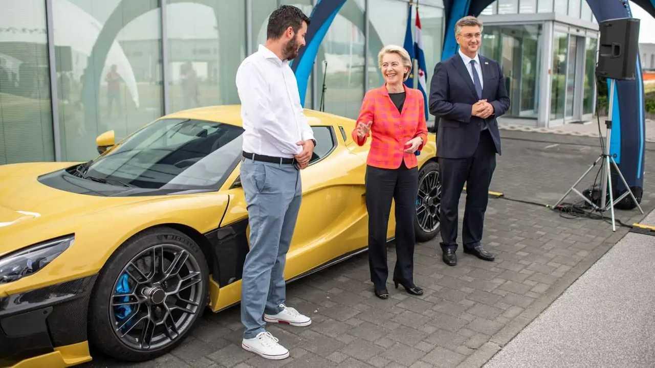 Ursula von der Leyen visita la sede di Rimac