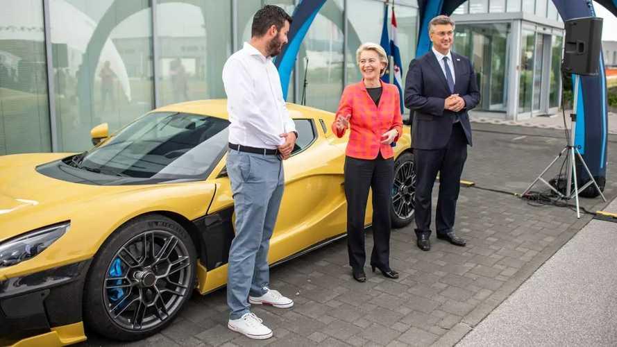 Incredibile Rimac: prima Bugatti, poi robotaxi (e von der Leyen!)