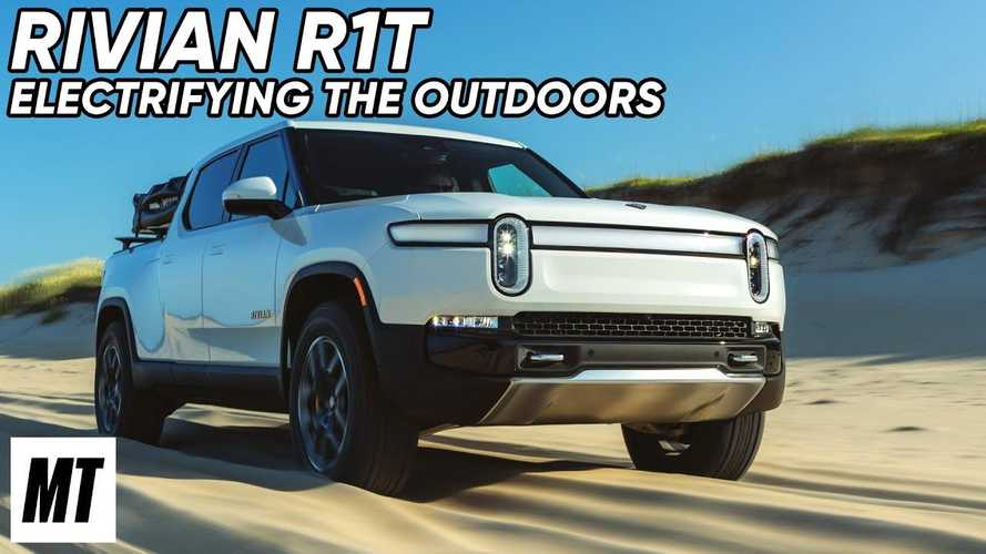 Watch Rivian R1T Electric Truck Tackle The Trans-America Trail