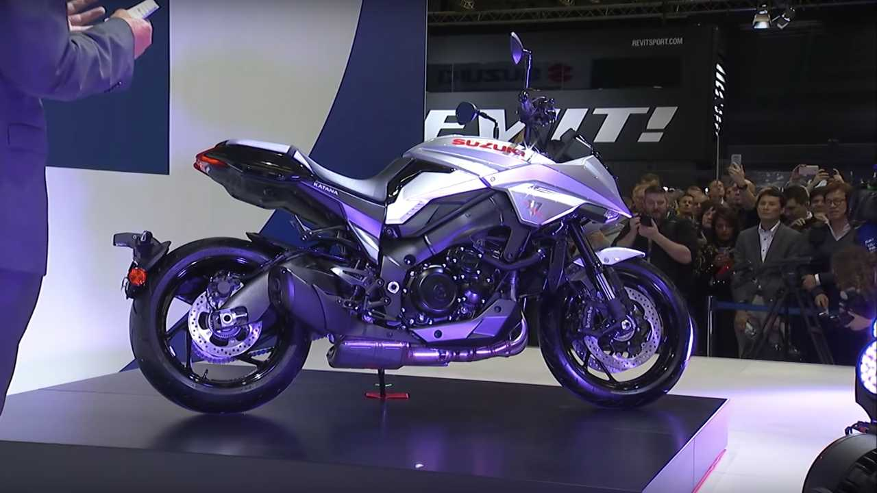 2020 Suzuki Katana launch at Intermot