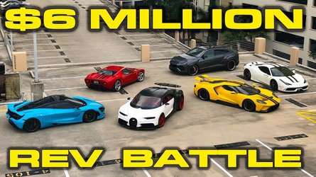 Supercar Rev Battle: Chiron, Ford GT, 720S, Urus, 458 Speciale