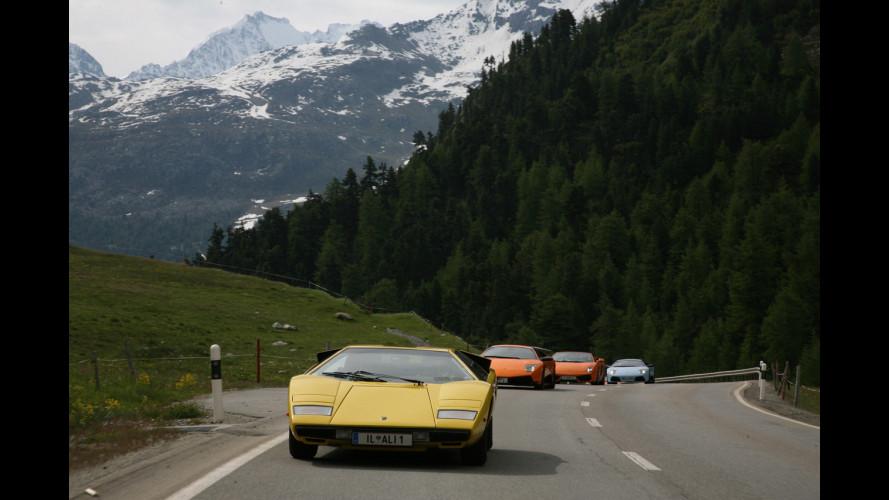100 Lamborghini a St. Moritz