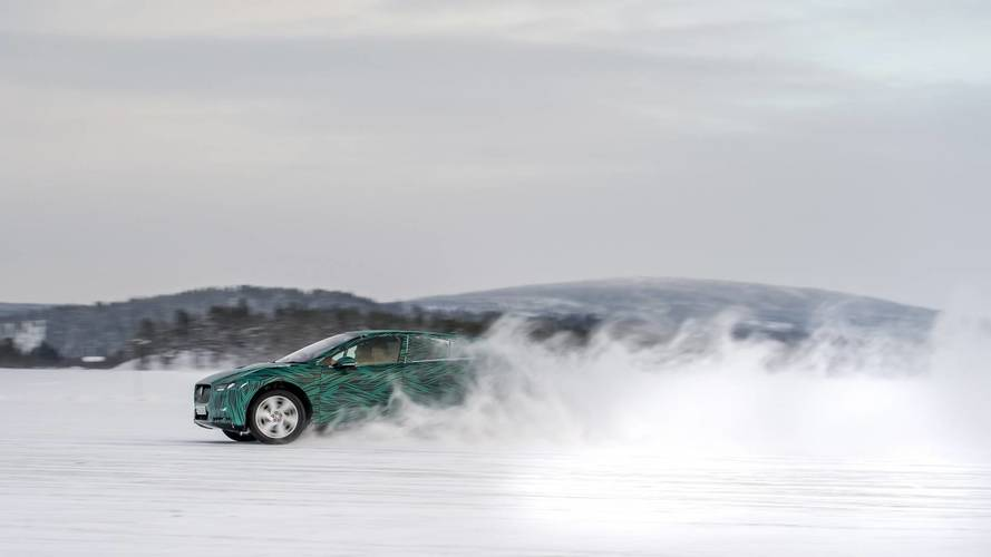 Jaguar I-Pace winter testing