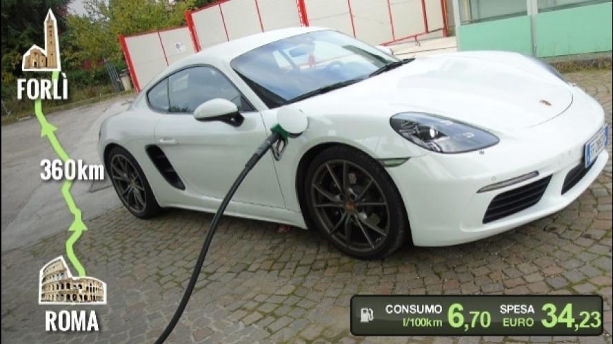 Porsche 718 Cayman, la prova dei consumi reali
