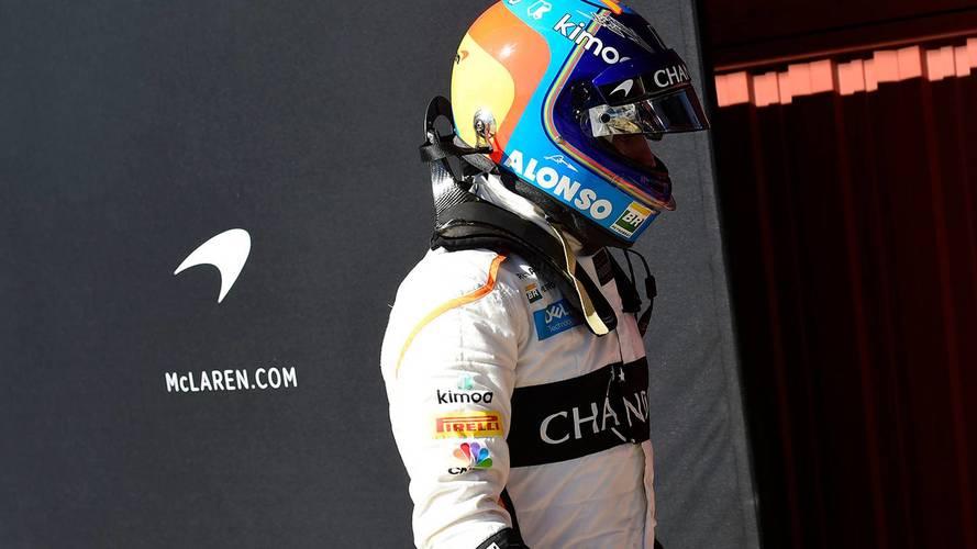 Fernando Alonso, en los test de Barcelona 2018