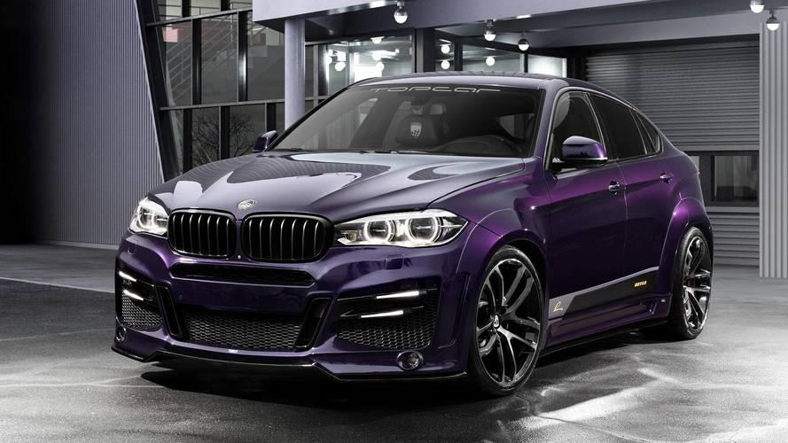 Geniş gövdeli vemor renkli BMW X6 muhteşem görünüyor