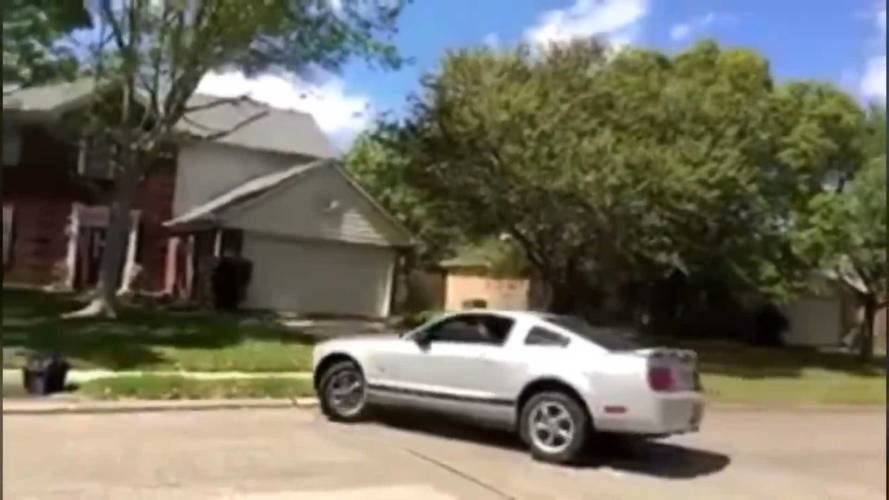 Ford Mustang Tries To Drift, Instantly Crashes Into House