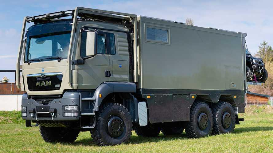 Unicat convierte este camión MAN 6x6 en una autocaravana de aventura