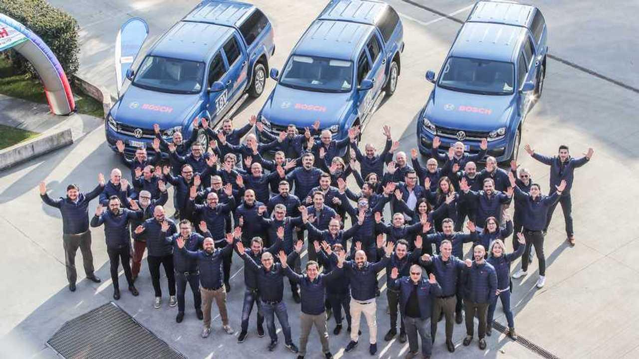 Volkswagen Amarok per l'assistenza agli utensili Bosch
