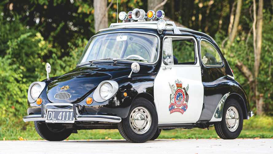 Buy This Police Subaru 360, The Cutest Cop Car Of All Time