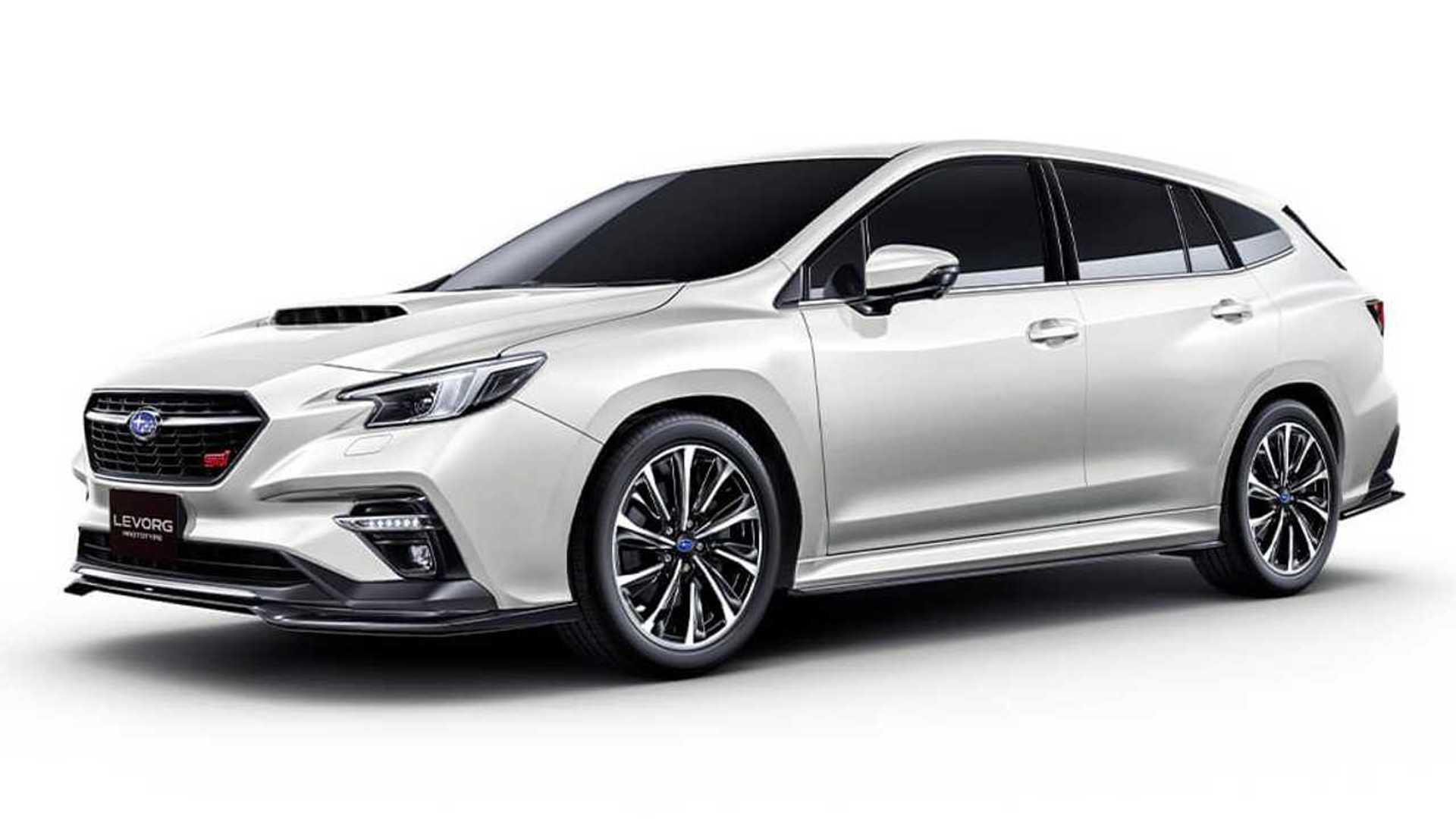 subaru levorg sti sport debuts at tokyo auto salon as hot wagon