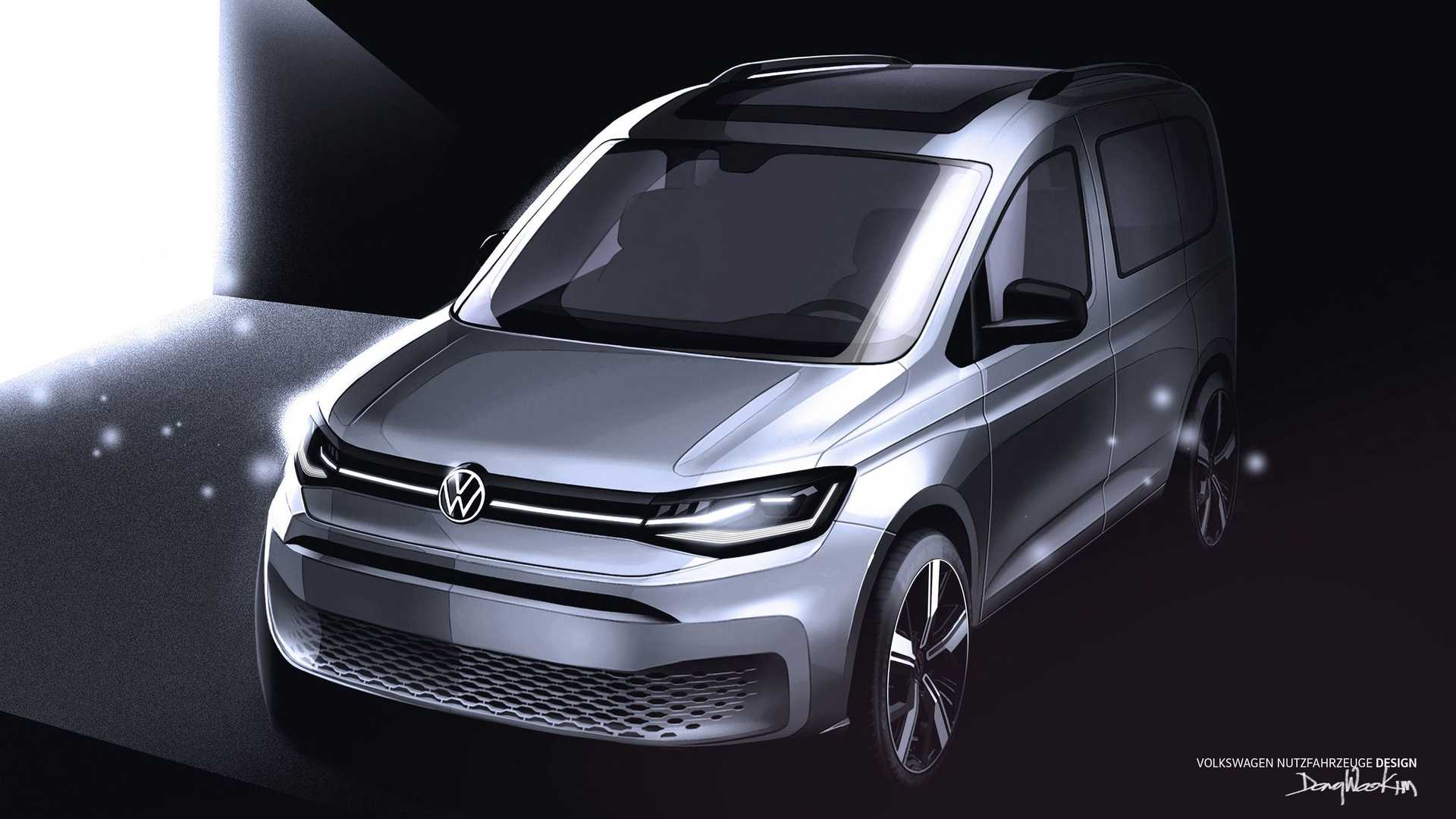 2020 Volkswagen Caddy Teaser Shows Off Stylish Little Van