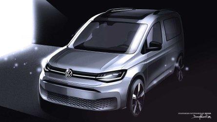 2020 Volkswagen Caddy teaser shows off stylish, little van