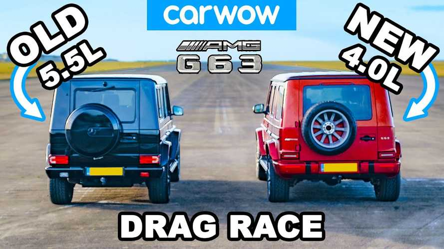 Mercedes-AMG G63 vs old G63 drag race shows generation gap