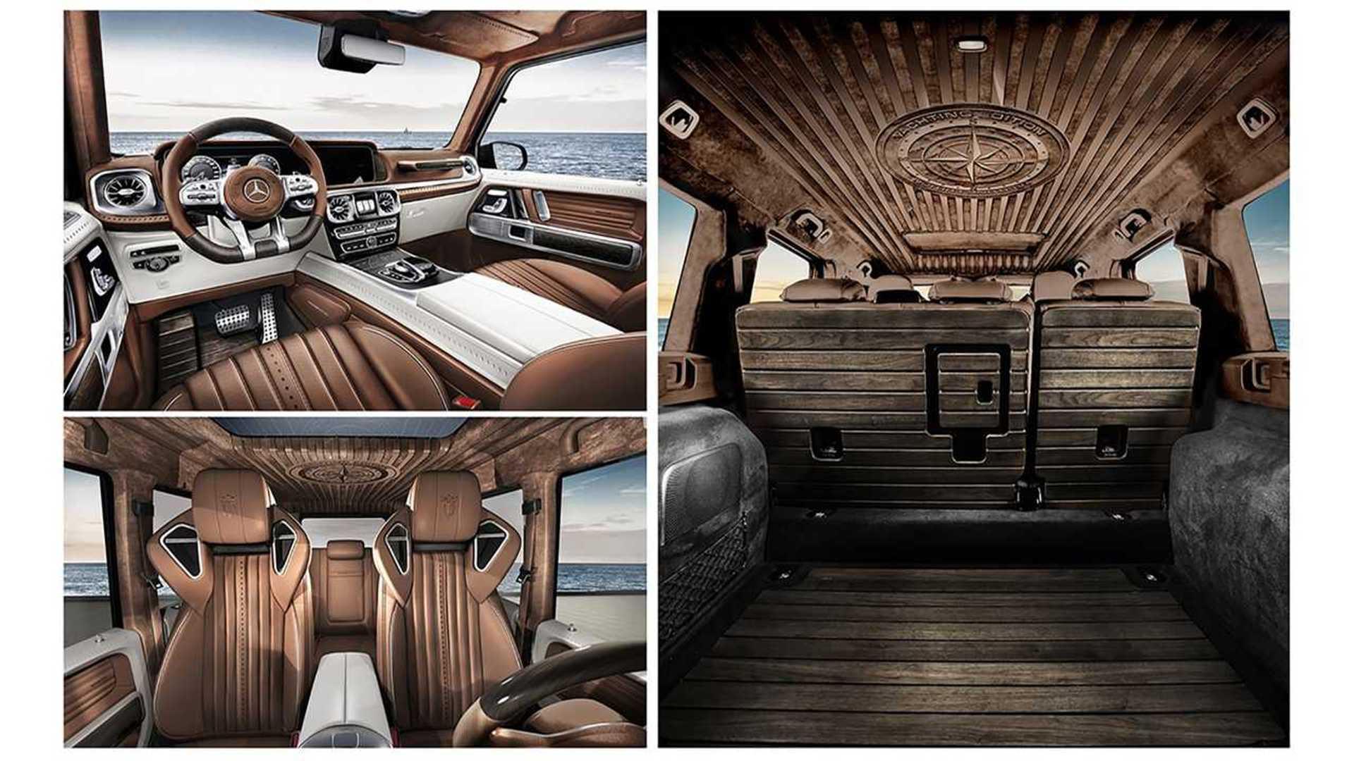 Mercedes Amg G63 Receives Opulent Wood Interior From Carlex Design