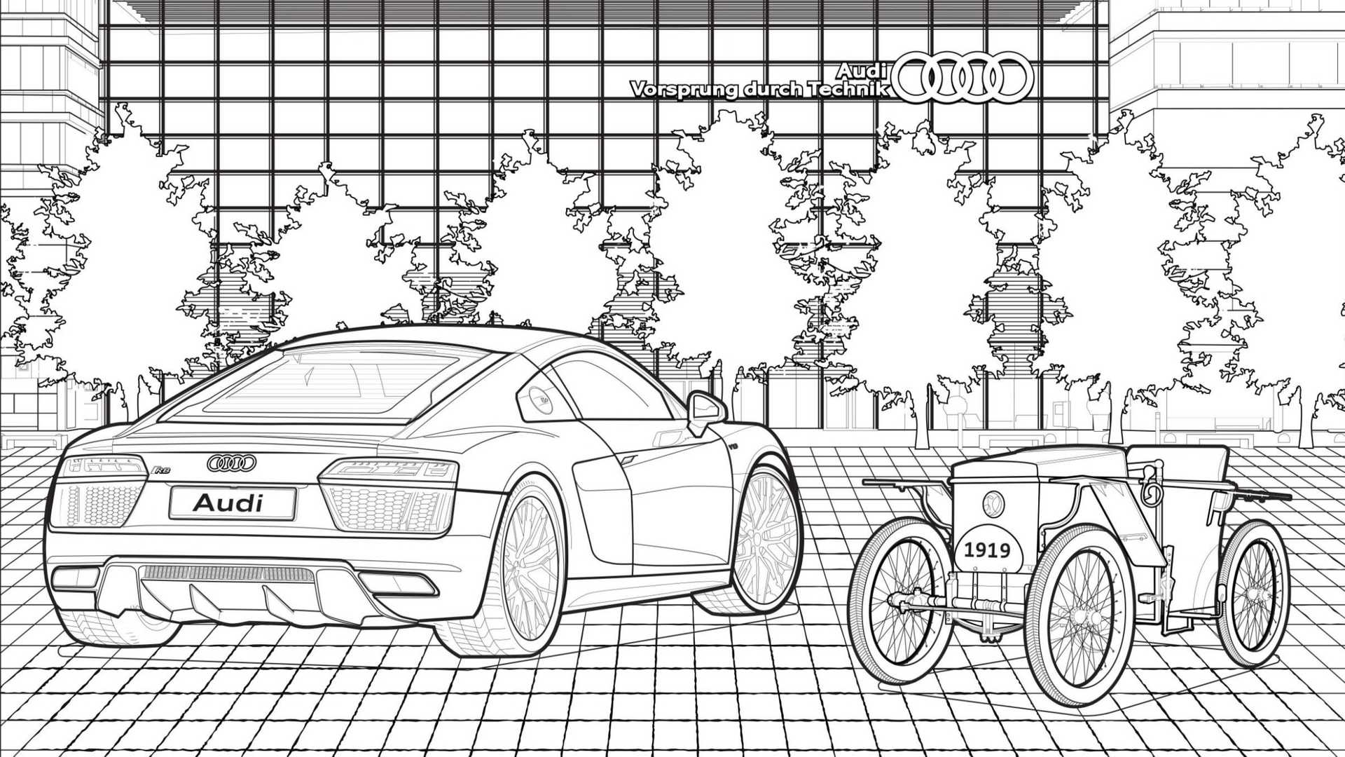- Free Audi Coloring Book Makes The Time Go By Pleasantly