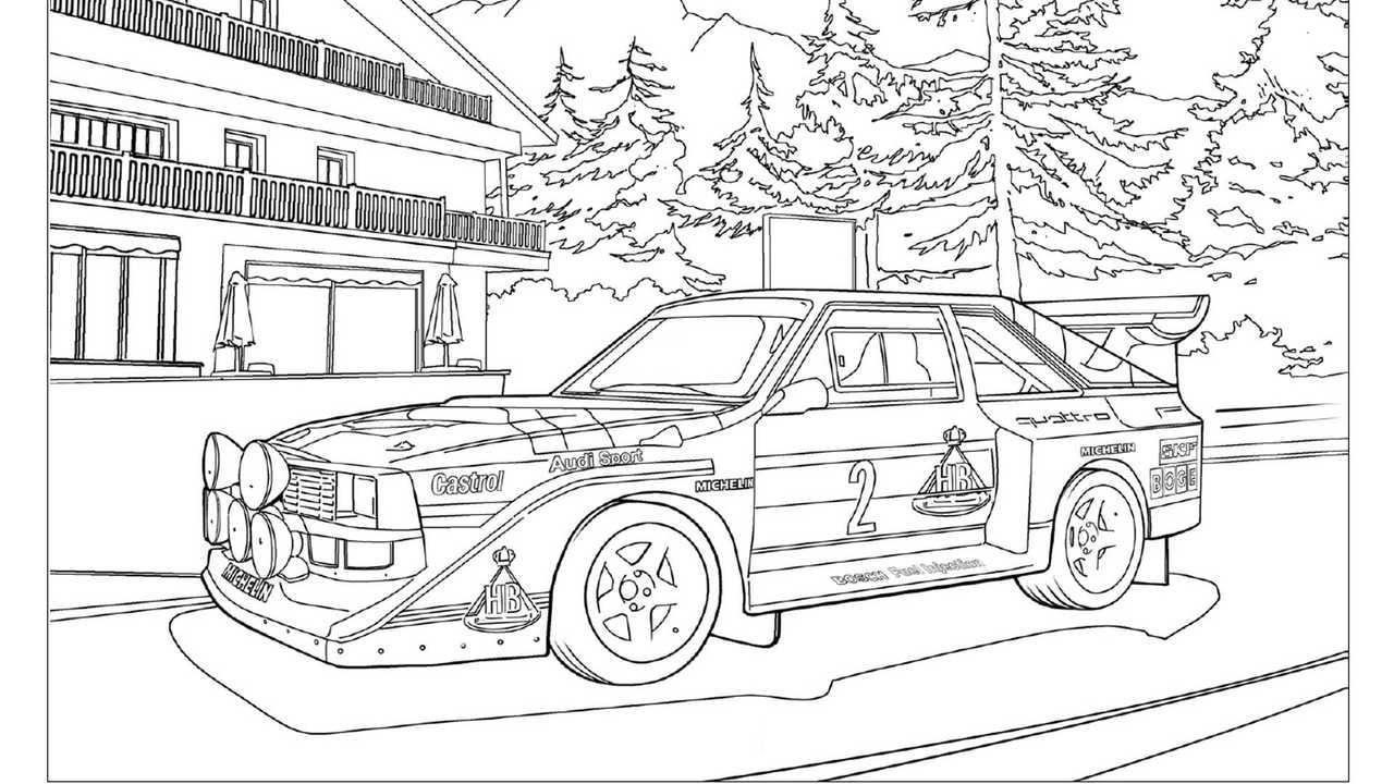 Dibujos para colorear coches de Audi