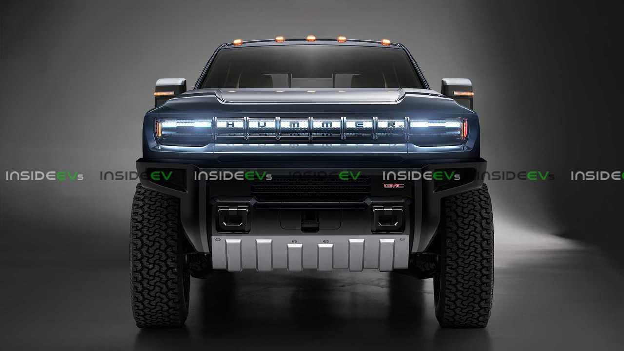Hummer EV Truck Render Front