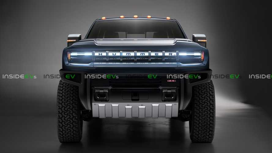 Hummer electric pickup truck looks big and rugged in exclusive render