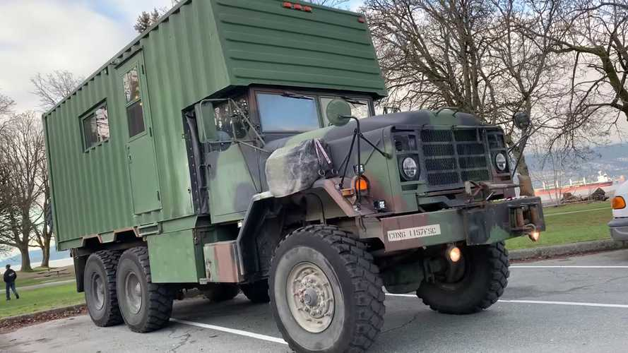 This Military Vehicle Turned Motorhome Looks Ready For Battle