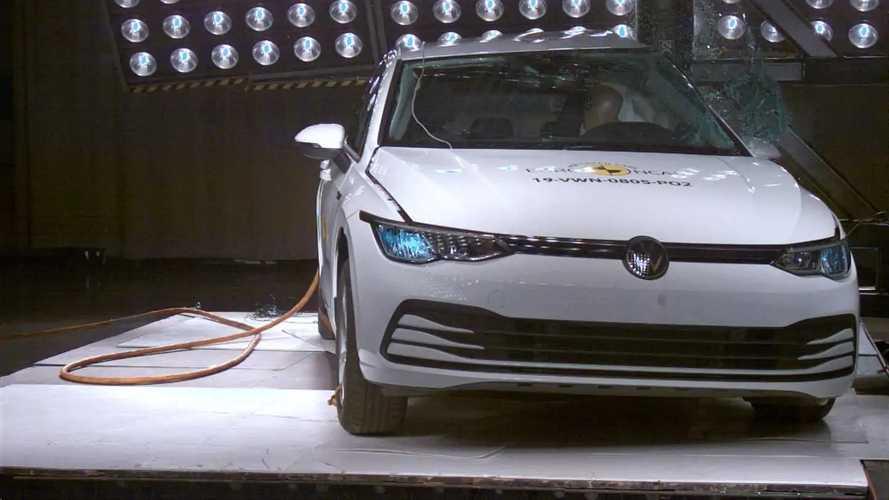 Nuova Volkswagen Golf 8, i crash test Euro NCAP