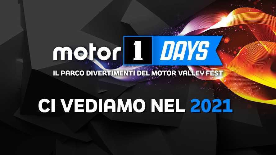 Motor1Days, l'edizione 2020 è rimandata al 2021