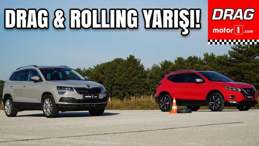 Skoda Karoq vs Nissan Qashqai | C-SUV Savaşı | Drag Yarışı