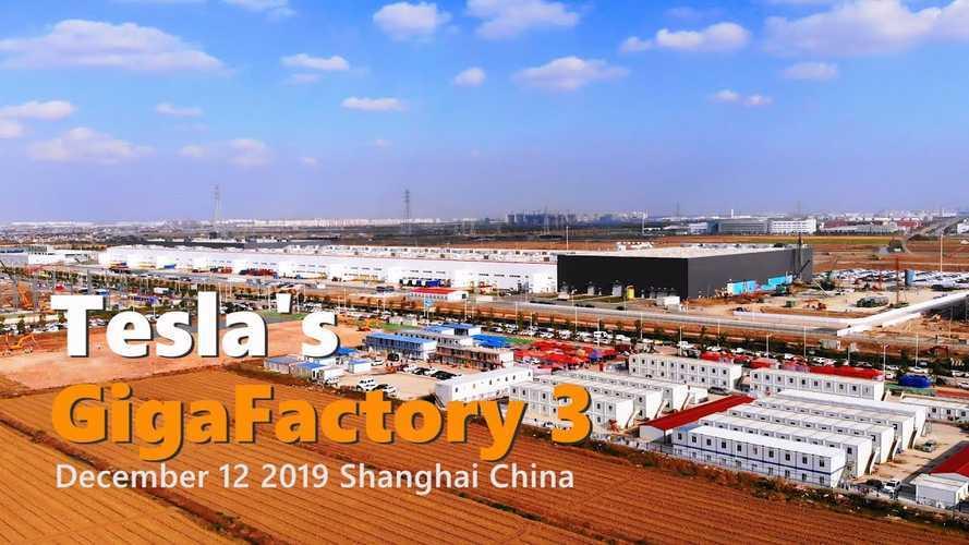 Tesla Gigafactory 3 Construction Progress December 12, 2019: Video