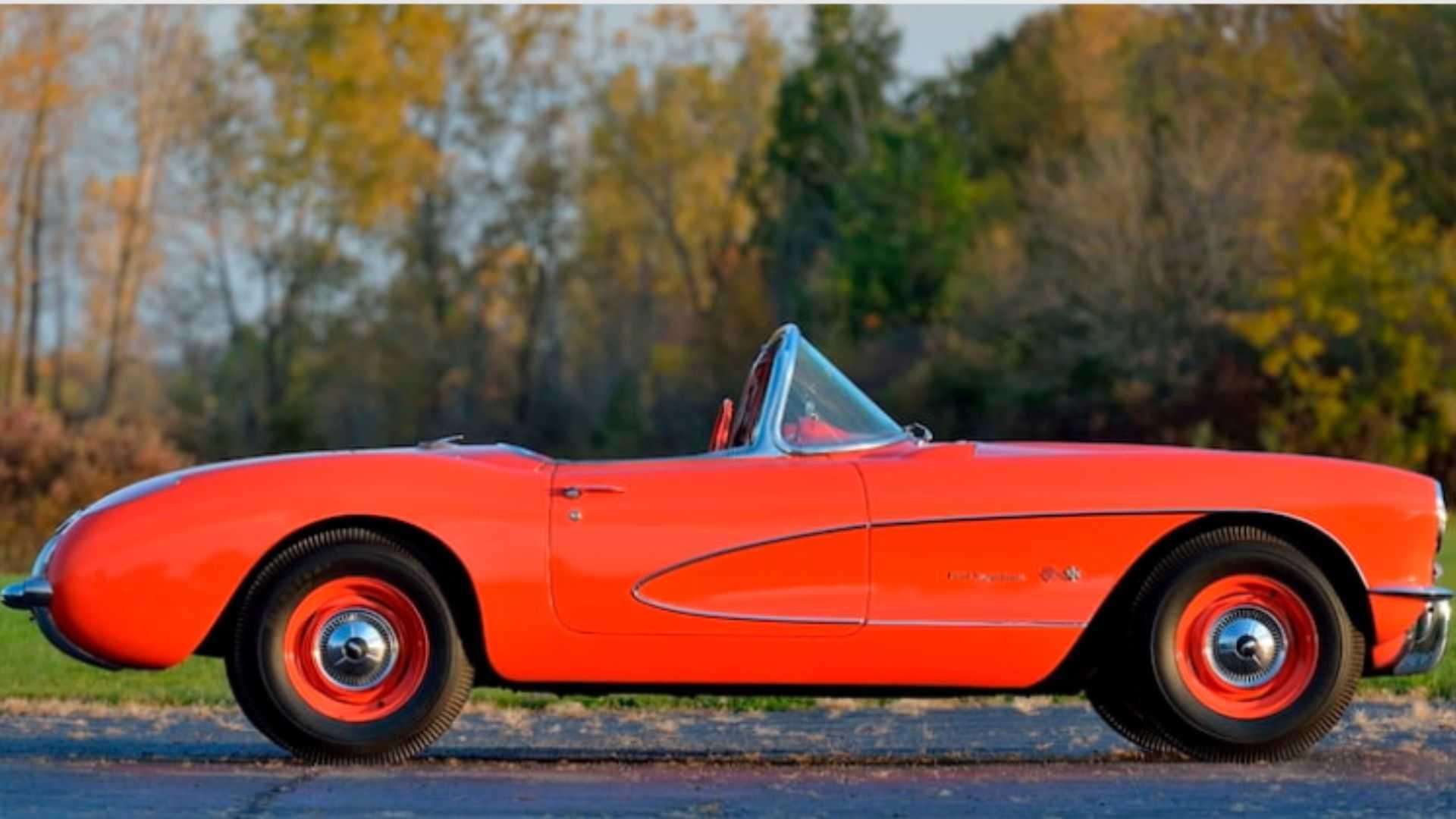 "[""Bid On An Ultra-Rare 1957 Chevy Corvette Big Brake Fuelie""]"