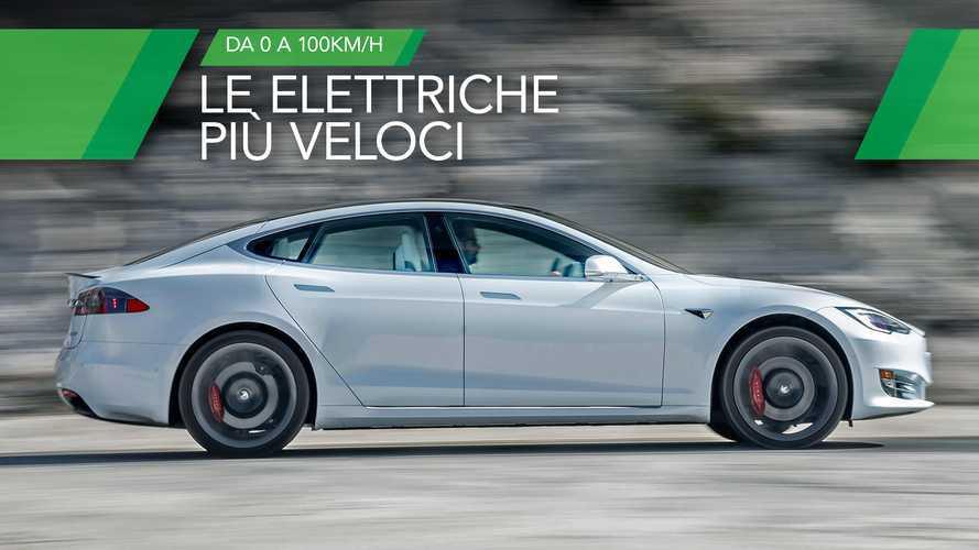 Le 10 auto elettriche più veloci nello 0-100 km/h