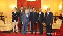 FIA Başkanı Jean Todt, Etiyopya Başkanı Mulatu Teshome ile birlikte