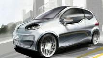 Valmet Eva Electric Vehicle Concept teaser sketch - 17.02.2010