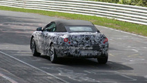 BMW 6 Series convertible spy photo at Nurburgring