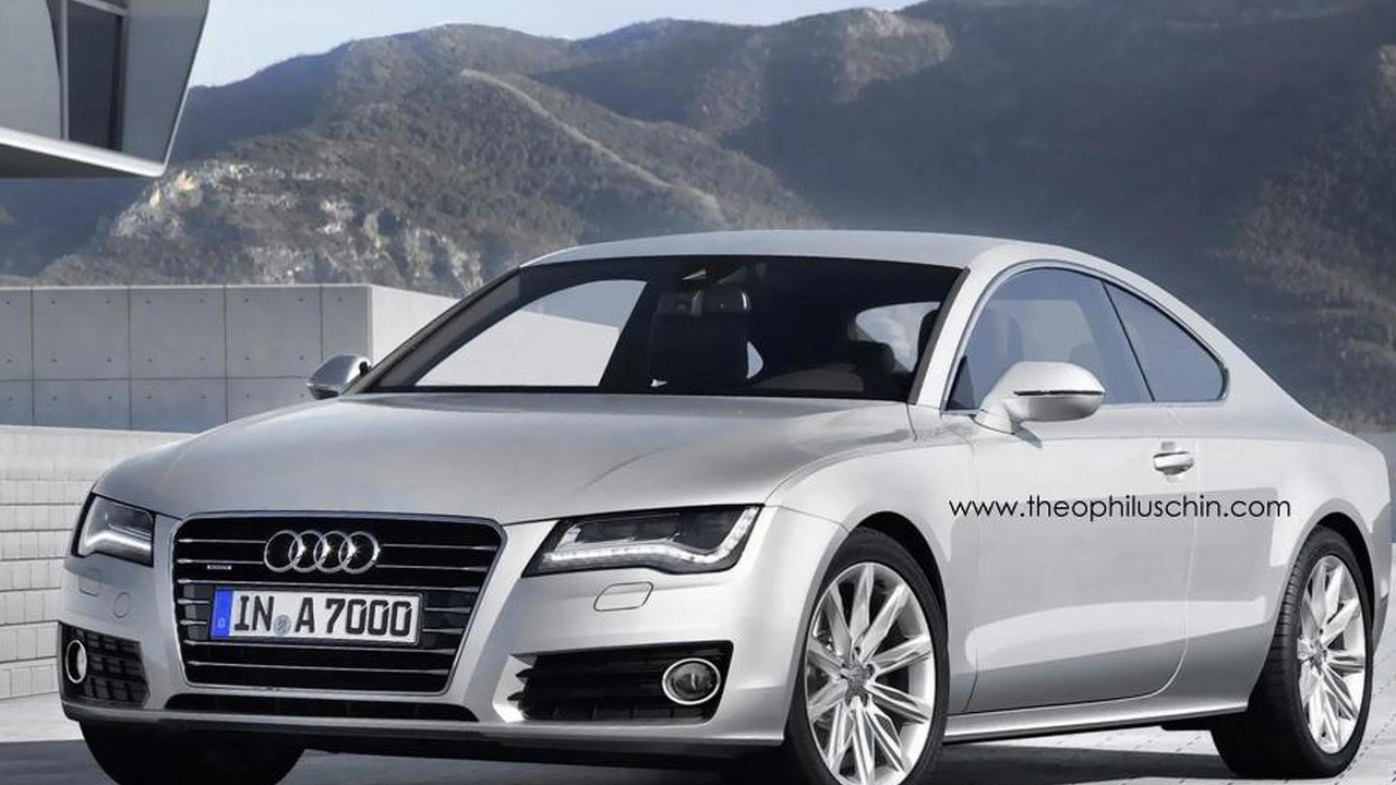 Audi A7 Coupe artists rendering