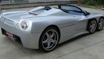 covini c6w six wheeler supercar goes convertible production planned