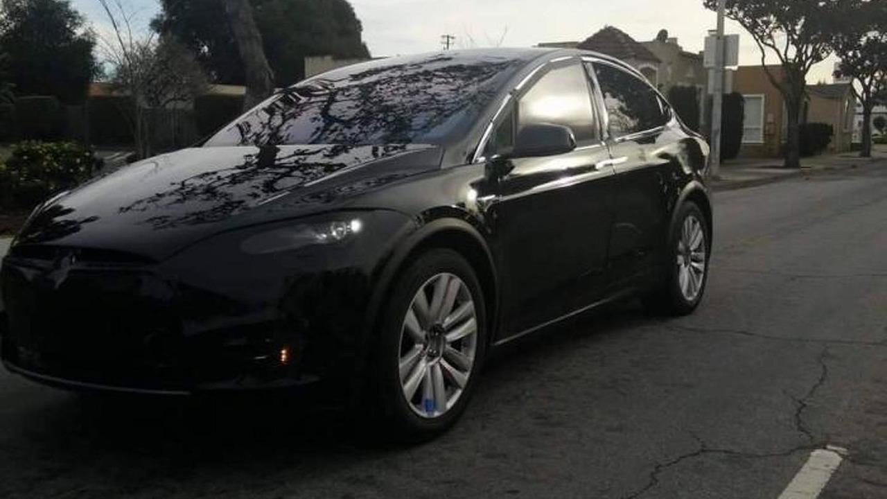 Tesla Model X spy photo
