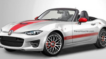 Abarth Roadster rendering / Theophilus Chin