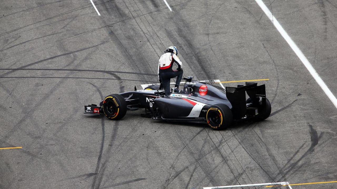 Adrian Sutil (GER) spins out of the race, 20.07.2014, German Grand Prix, Hockenheim / XPB