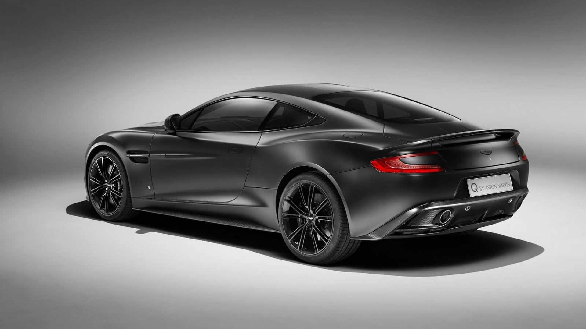 Q By Aston Martin Prepares Satin Jet Black Vanquish Coupe - Black aston martin