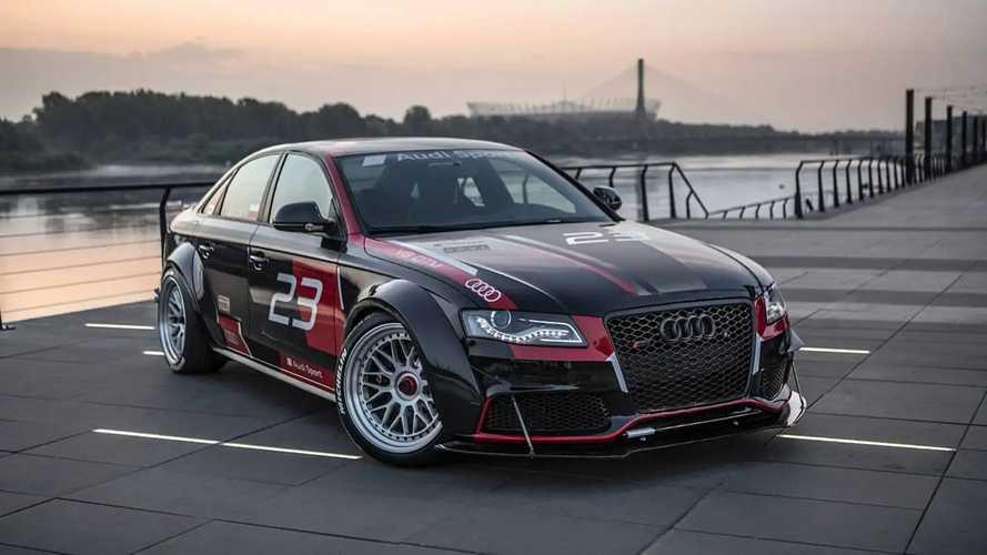 Este Audi A4 TDI se transforma en una berlina V8 con tracción quattro
