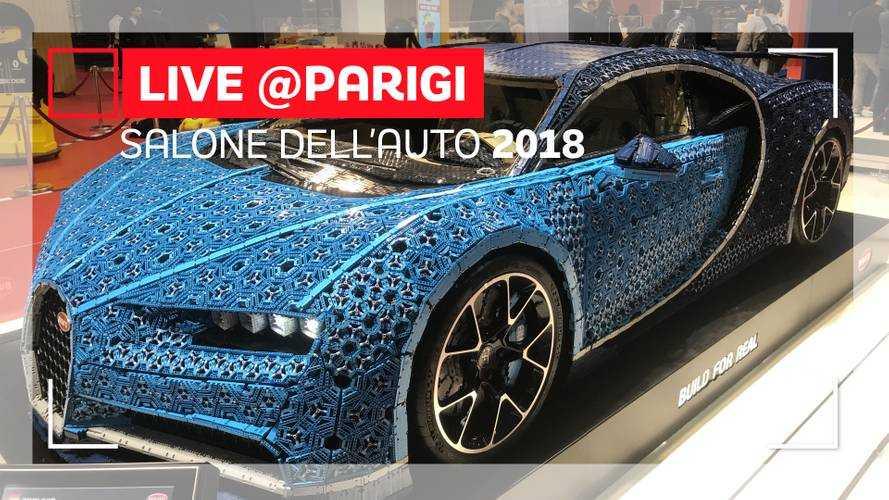 Bugatti Chiron by Lego, un milione di mattoncini al Salone di Parigi