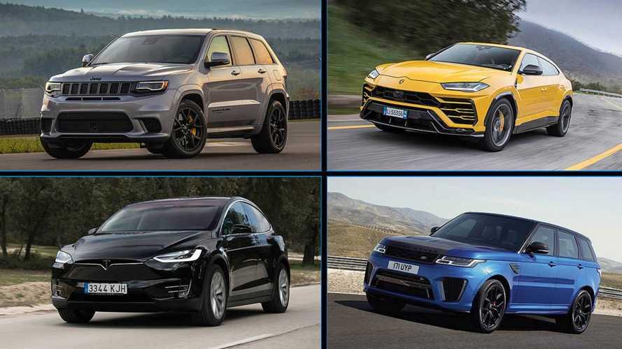 Die 10 leistungsstärksten SUVs auf dem Markt
