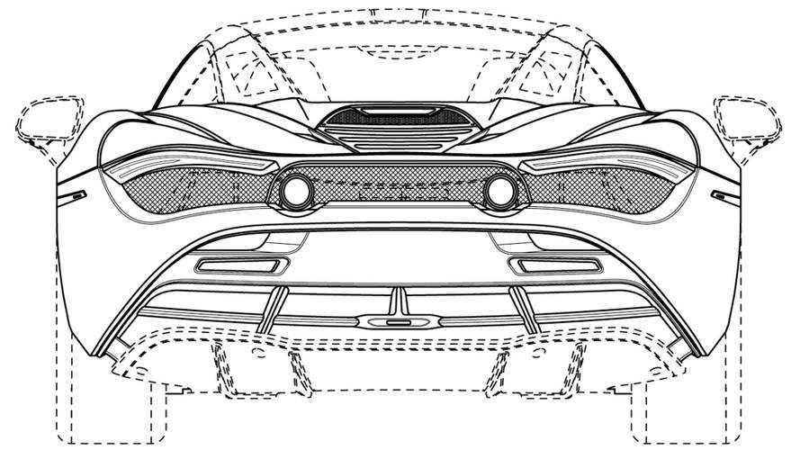 McLaren 720 Spider Patent Çizimleri