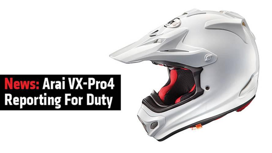 News: Arai VX-Pro4 Reporting For Duty
