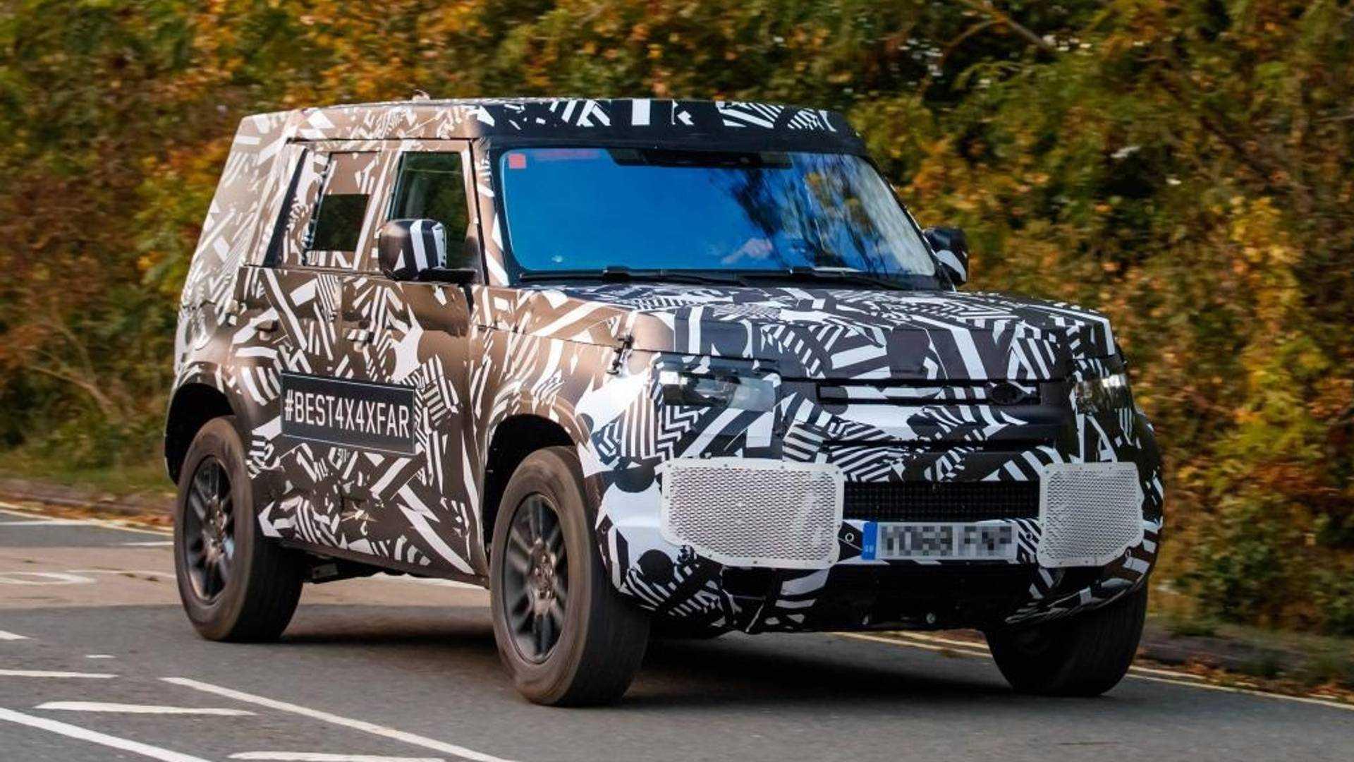 Flagra Novo Land Rover Defender Mostra Carroceria Definitiva Pela